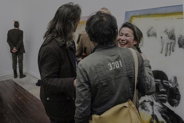 foto Opening Lakens Kranten en Walvisvet in Park Platform for Visual arts [c] Emile Waagenaar 2015 22.01.2015-0904